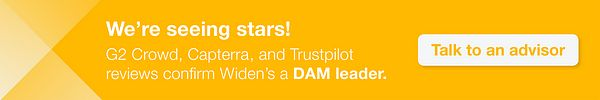 Customer reviews confirm Widen's a DAM leader. To learn more, talk to an advisor.