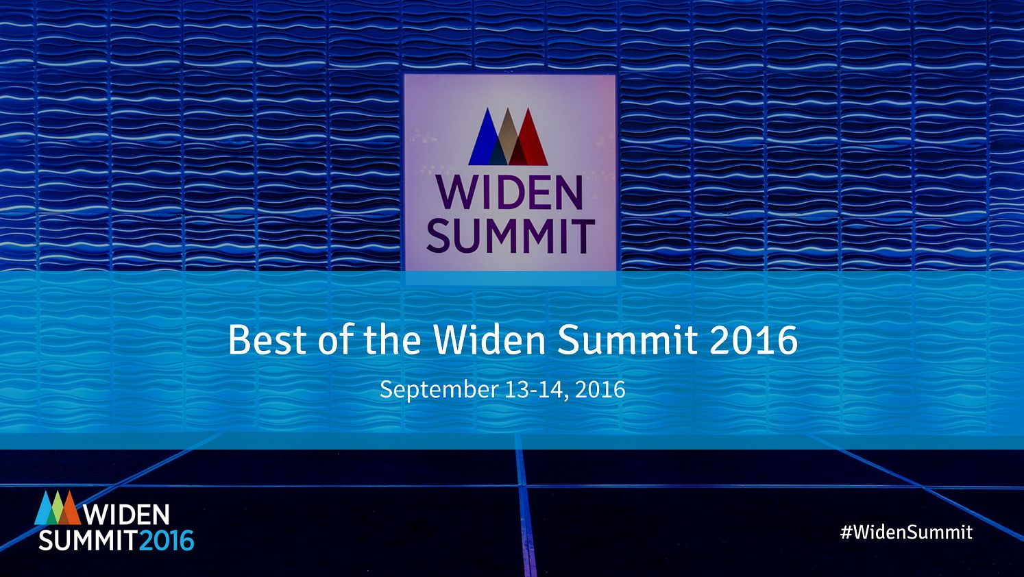 The Best of the 2016 Widen Summit