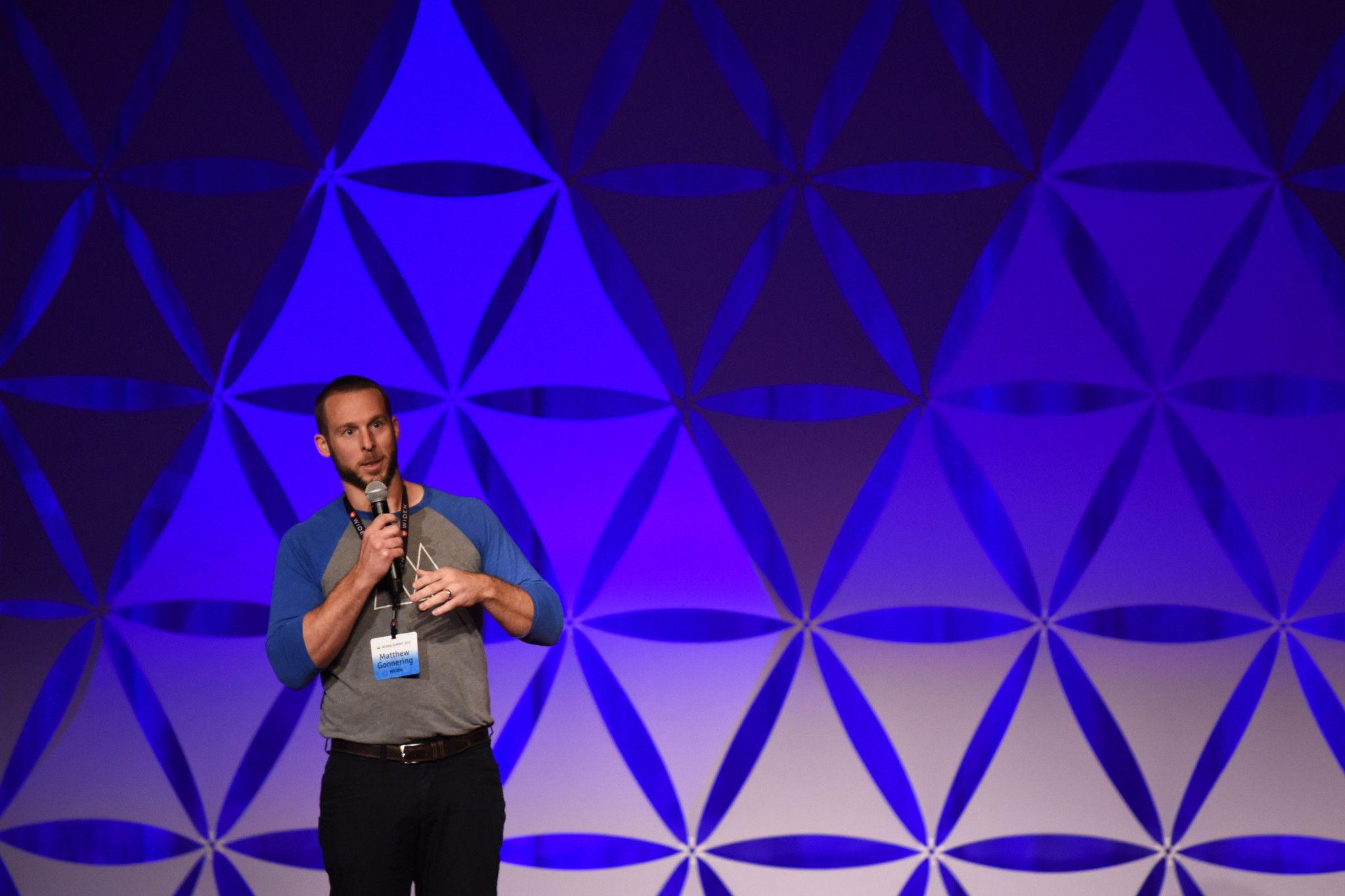 Widen Summit Matthew Gonnering speaks about radical focus