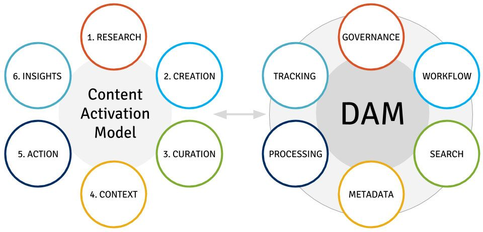 Content activation model and DAM