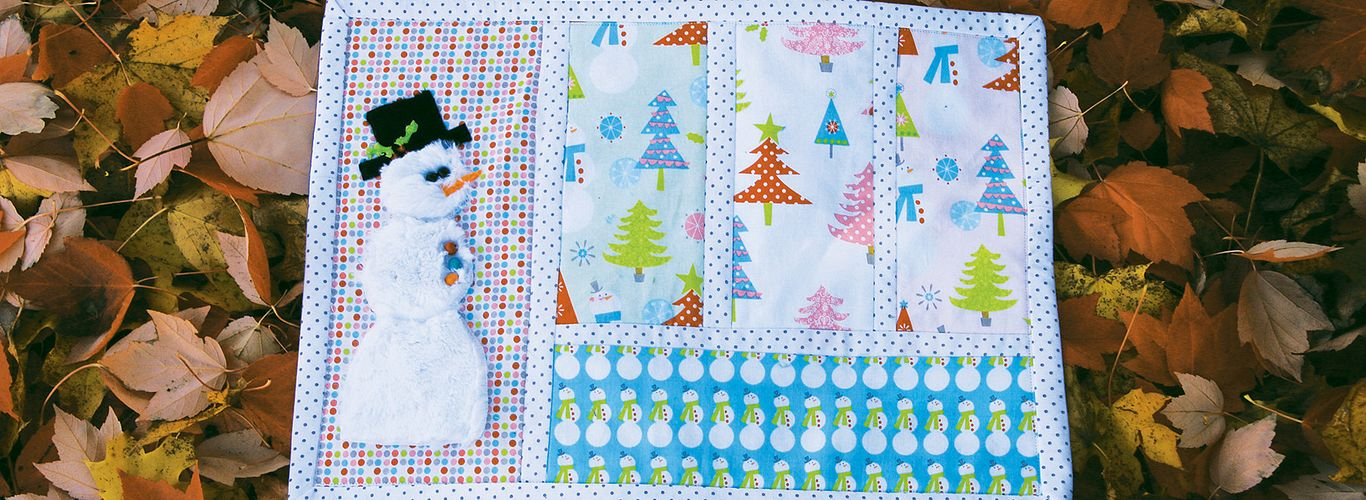 Project: Winter Snowman Placemat