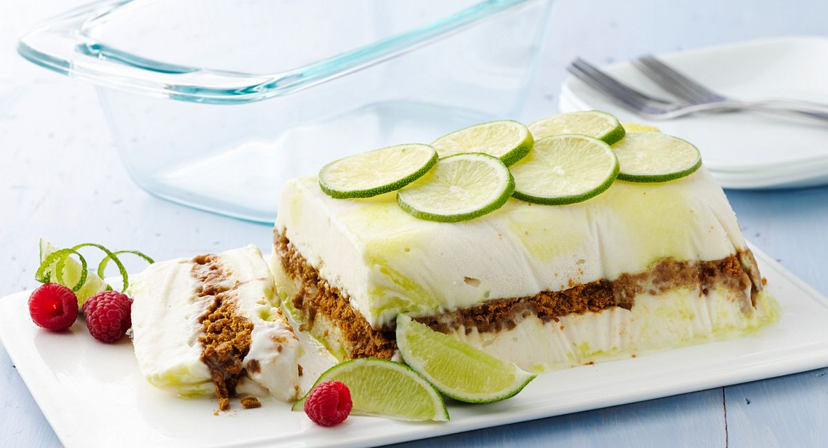 3-Ingredient Key Lime Greek FroYo Cake