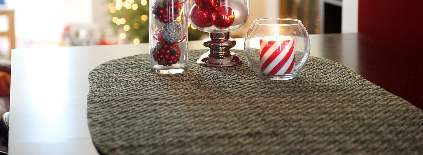 Chenille Christmas Table Runner
