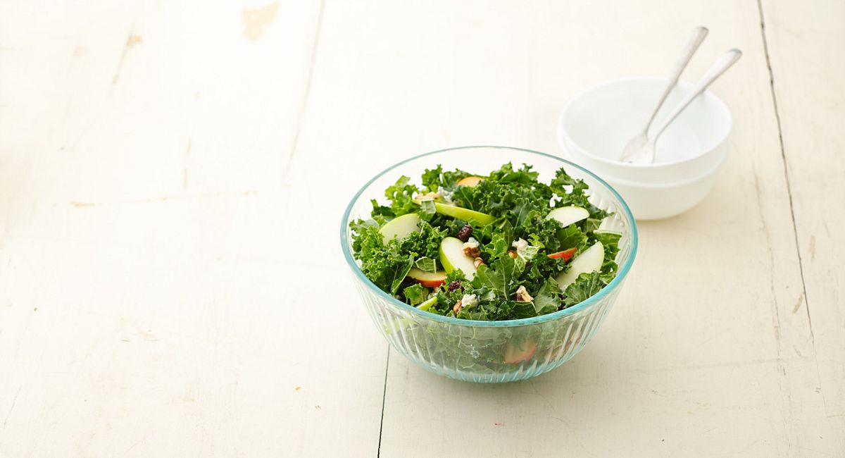 Apple-Walnut-Cherry Kale Salad