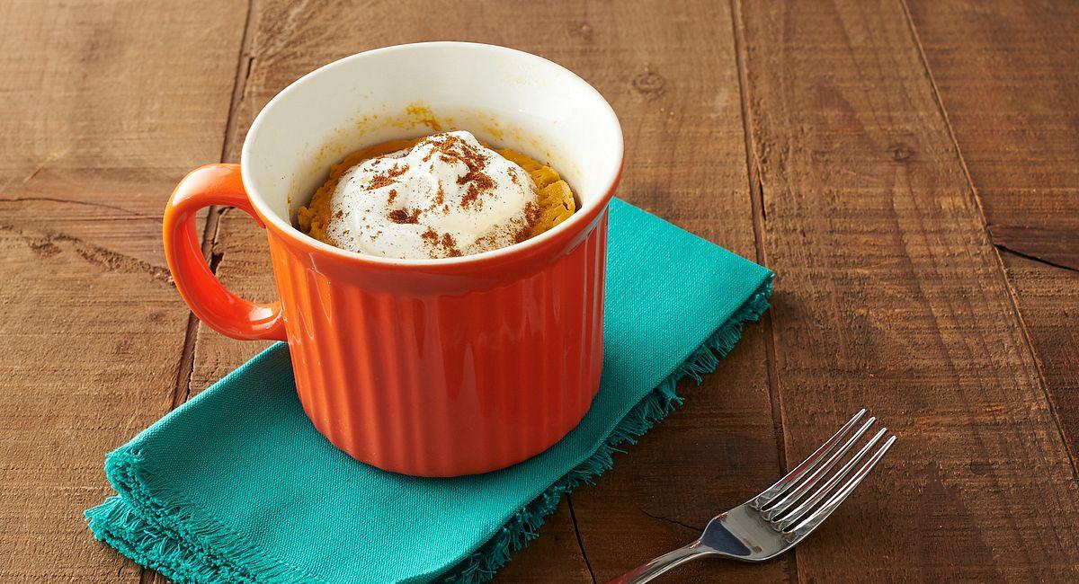 Pumpkin Spice-Ginger Mug Cake