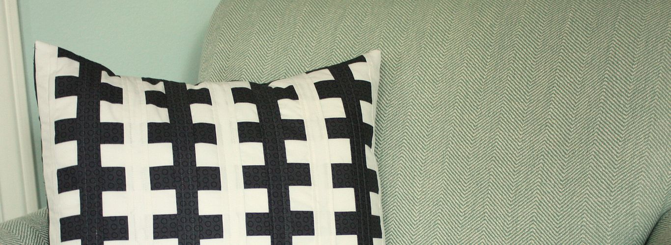Zipper Block Pillow Cover