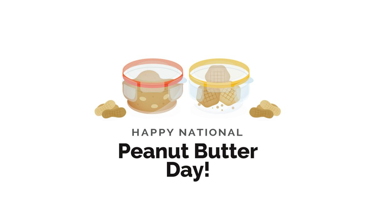 A Year In Food - Peanut Butter Day Infographic