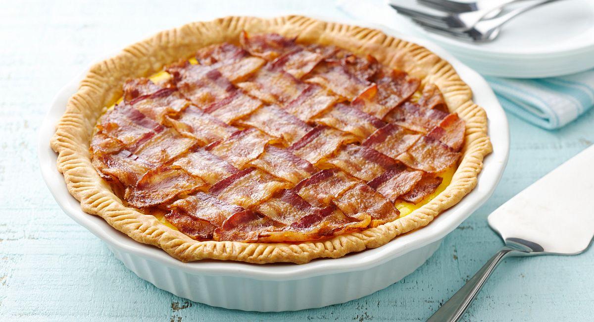 5-Ingredient Bacon Lattice Breakfast Pie