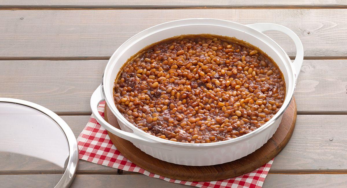 Maple-Rum Baked Beans