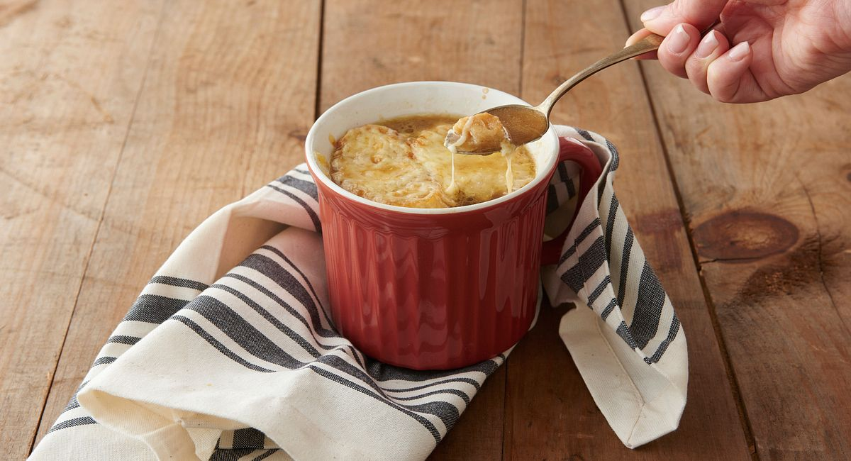 Mug Shots: French Onion Soup in a Mug