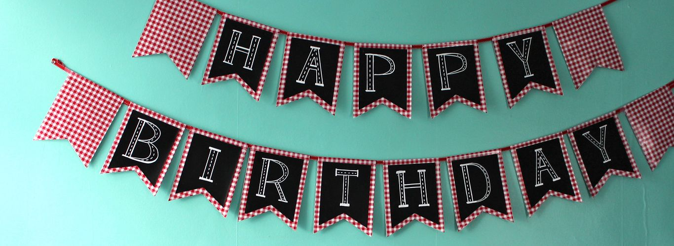 Chalk Birthday Bunting