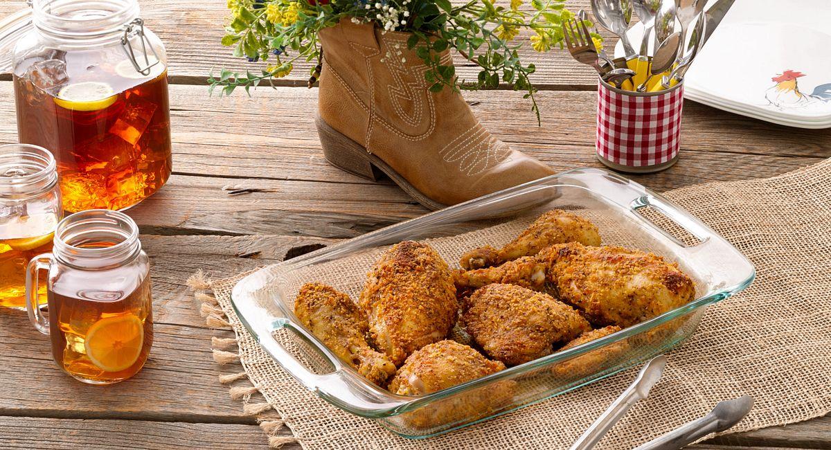 Peppery Buttermilk Oven-Fried Chicken