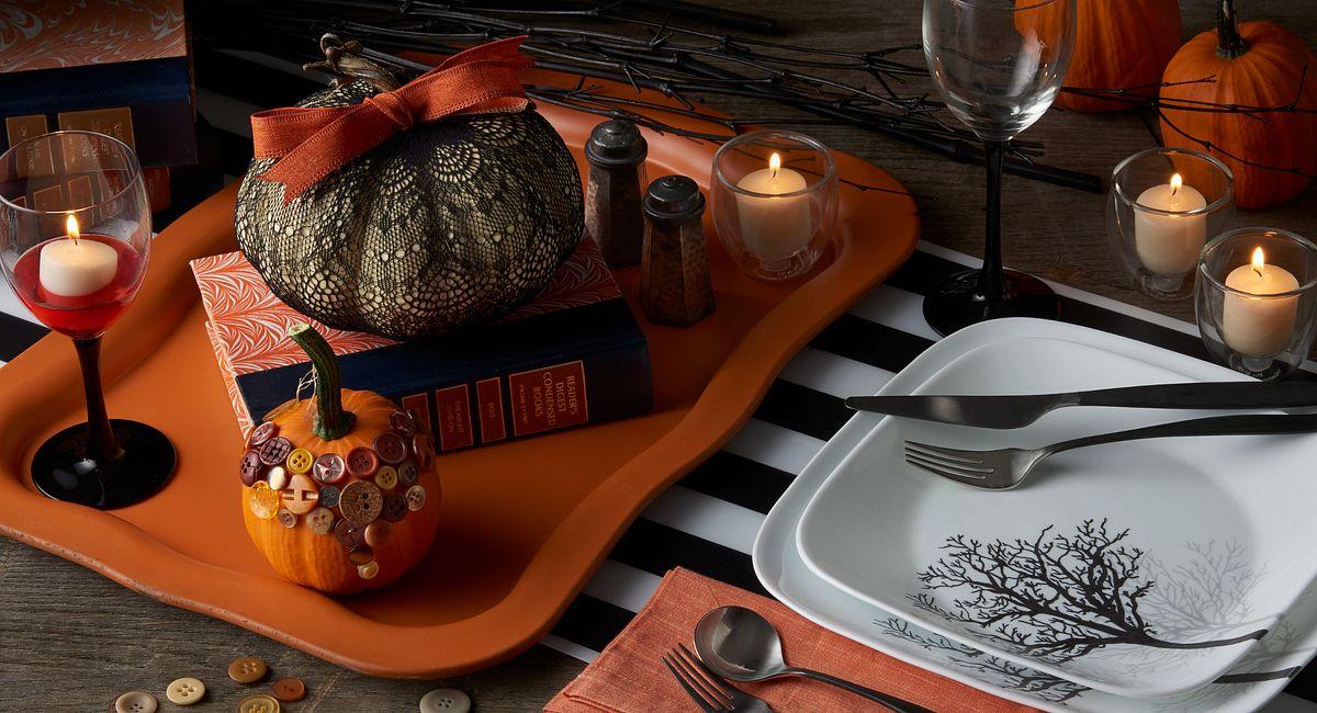 Clever Pumpkin Centerpieces