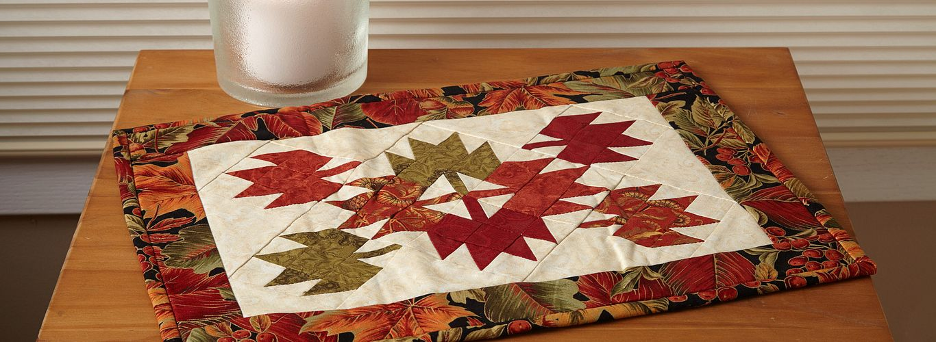 Tumbling Leaves Candle Mat