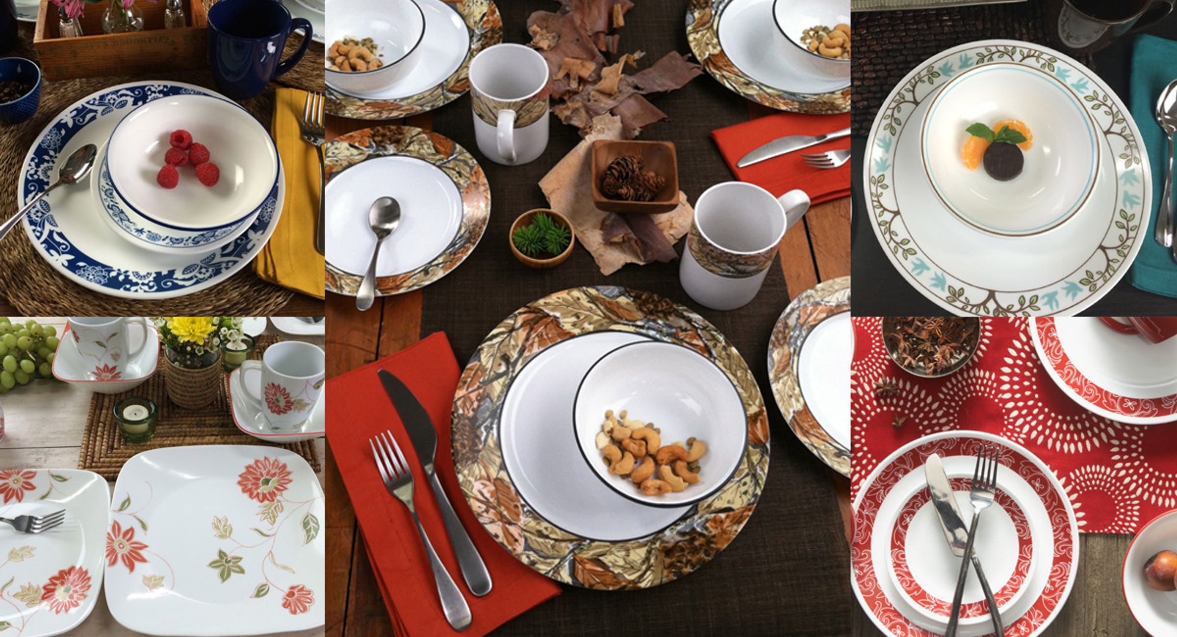 Corelle Dinnerware at the Cabin: Which Style Are You?