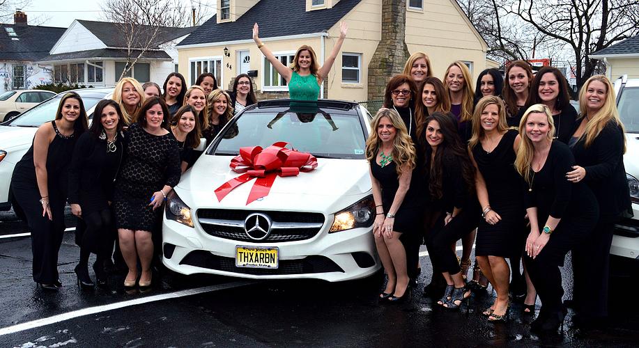 The Braden Region celebrating at Danielle's Mercedes-Benz Car Presentation.