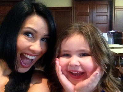 This photo was taken the minute that Aileen and her daughter, Lea, found out that Aileen hit her RVP numbers. }}