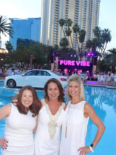 Kristen celebrating at Pure Vibe in Las Vegas with new Area Managers Janine Berstein and Meredith Carter.