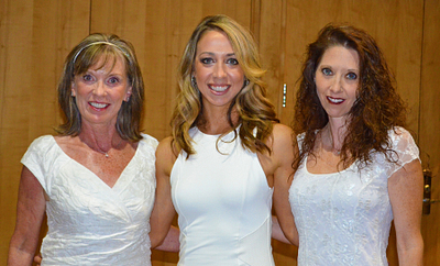 Meggie with her mother, AM Karen Matteson, and sister, DM Tracy Czajkowski. }}