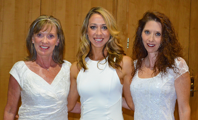 Meggie with her mother, AM Karen Matteson, and sister, DM Tracy Czajkowski.