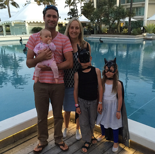 The Temmerman family at the Arbonne Incentive Trip on the Gold Coast in 2015.