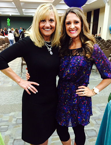 Morgan with her idol, No. 1 income earner ENVP Cecilia Stoll.