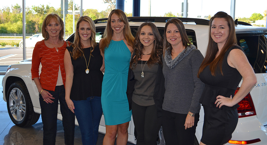 Meggie with several of her AMs, Karen Matteson, Alexa Russo, Ashley Bock, Michelle Yodonis, and Samantha Hagy.