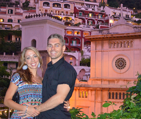 Meggie and Tim in Italy for their honeymoon.