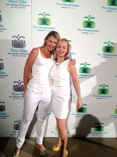 Katrina with her gorgeous friend and RVP-in-qualification, Clara Robertson, celebrating at the Pure White Party at GTC.