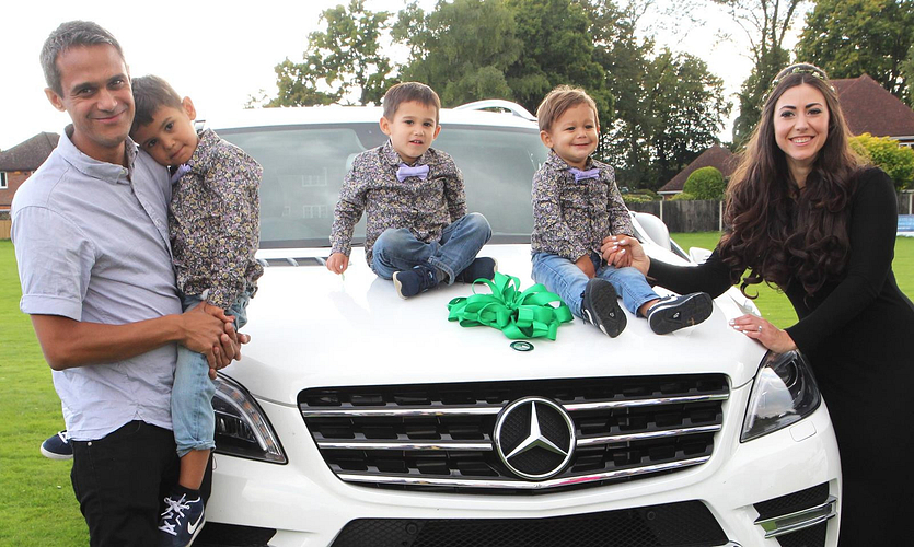 Nina and her family at her Mercedes-Benz Car Presentation.