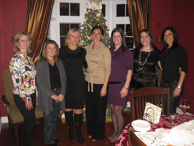 Lisa Alfieri Sladen, DM Sandy Carlile, DM Maria DiDomenico, Gina, AM Michelle Bazinet, DM Monica Paquette and Franca Pedulla.