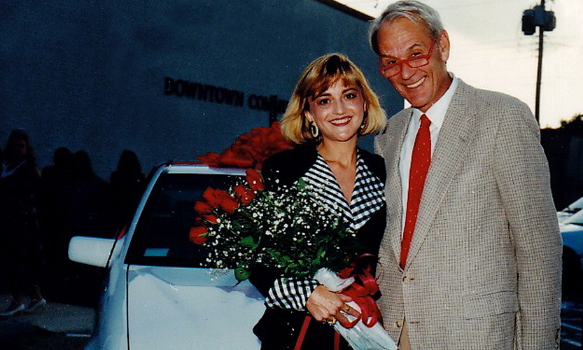 Cecilia and Arbonne Founder Petter Mørck at her Mercedes-Benz Car Presentation.