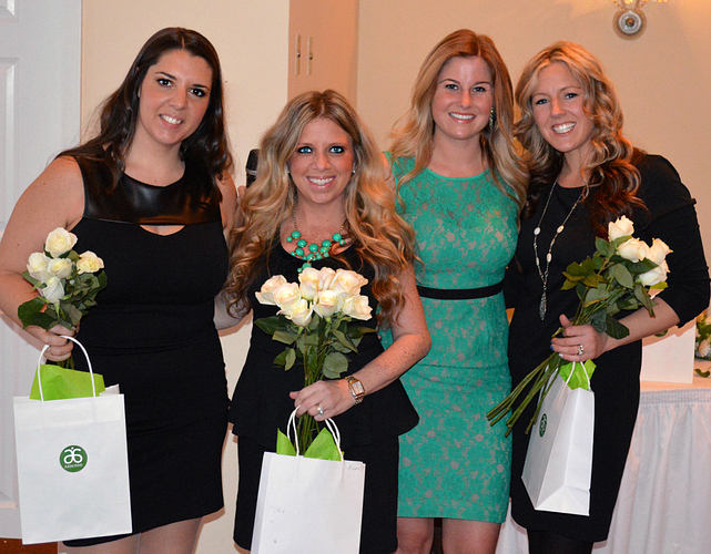 Danielle celebrating with her Area Managers at her Mercedes-Benz Car Presentation.