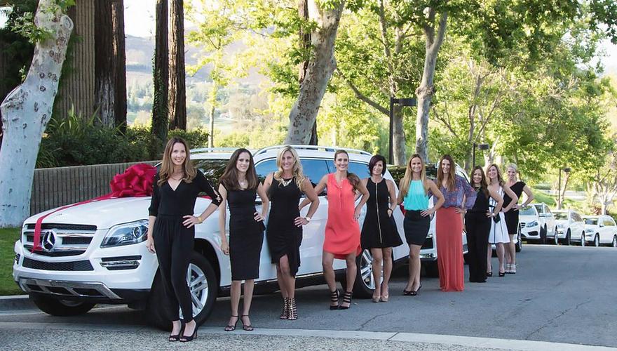 VP line-up at RVP Missi Davis's Mercedes-Benz Car Presentation.