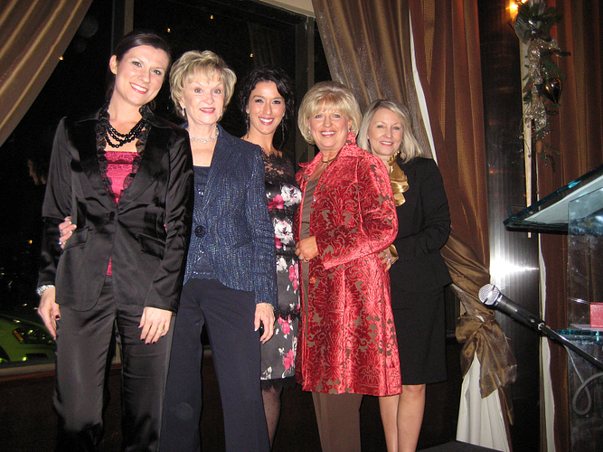 L–R: Sponsor, NVP Stephanie Fisher; former President Rita Davenport; Caroline; ENVP Joyce Owens and ENVP Neta Irwin at Caroline's Mercedes-Benz Car Presentation.