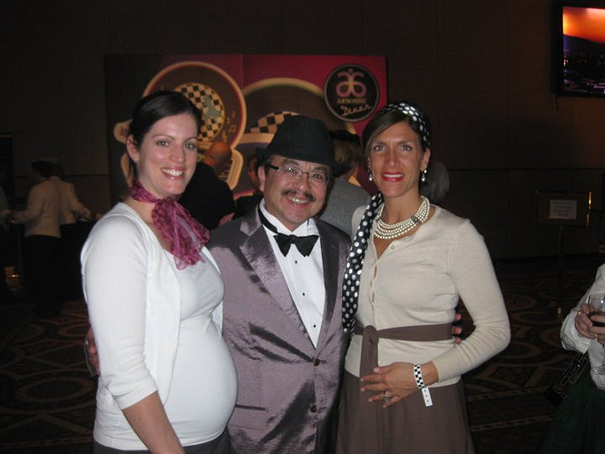 AM Michelle Bazinet, Sr. VP Product Development Peter Matravers and Gina.