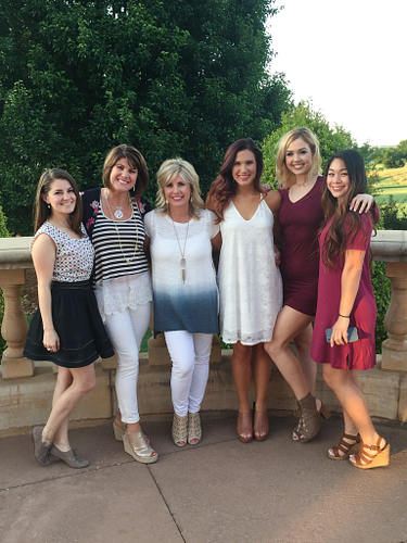 Peyton with some of her team at the Oklahoma City National meeting at the Gaillardia Country Club.