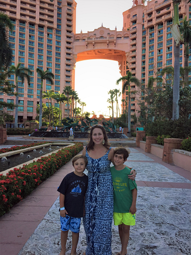 Kristen's Why: Her boys Meyer and Holden enjoying time together at Atlantis on the 2017 Arbonne Incentive Trip.