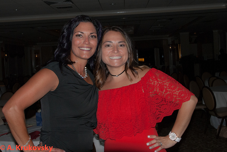 Karina and her sponsor, Dawn Russalesi.