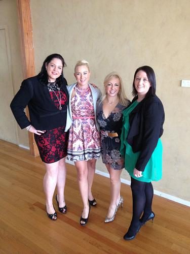 ERVP Rebecca McIntyre, ERVP Chelsea Launer, ENVP Debbie Loughnane, RVP Kristy Davidson at a team training day.