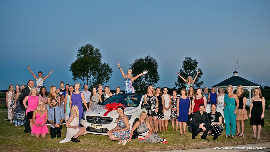 Emily at her Mercedes-Benz Car Presentation, with ENVP Debbie Loughnane, ERVP Rachel Mau, RVP Amanda Holland, and Emily's SuccessLine.
