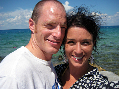 Caroline and her husband, Kevin, on the ASAP Caribbean Cruise 2010. }}