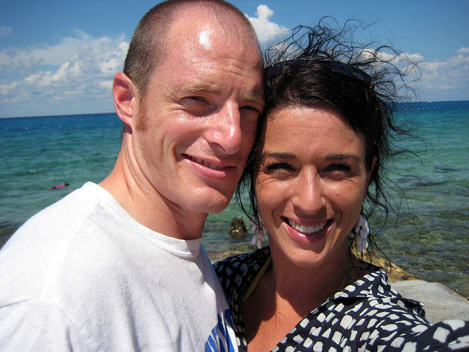 Caroline and her husband, Kevin, on the ASAP Caribbean Cruise 2010.