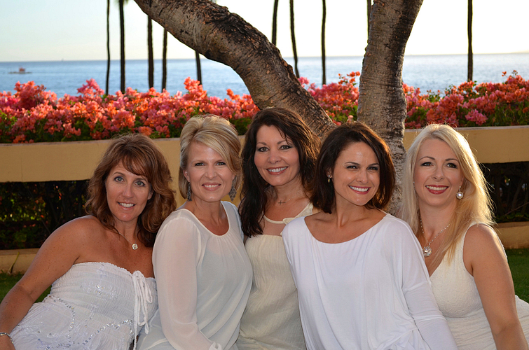 NVP Successline in Maui at the NVP Leadership Meeting: Leslie Humphrey, Valerie Edwards, Christy Dreiling and Debbie Loughnane.