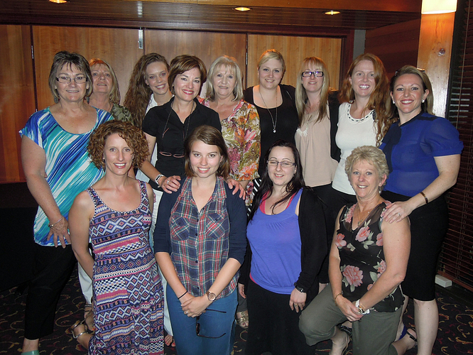 Jill with some of her Arbonne Dream Team at a team training.