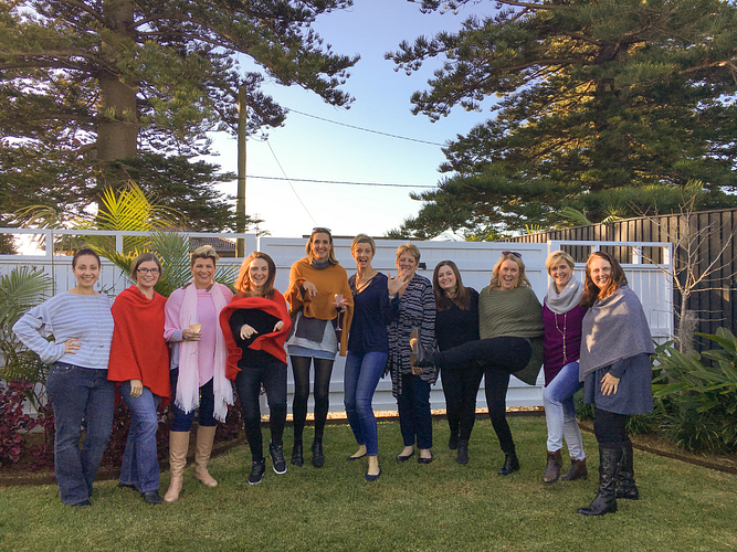 Sarah's team at their annual Wellness Weekend in Gerringong, NSW.