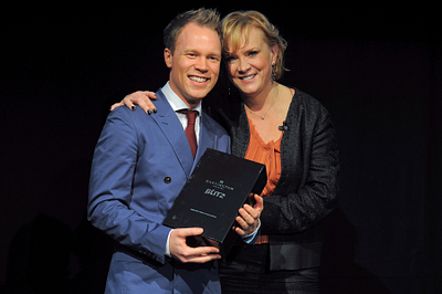 Stuart with CEO Kay Napier at AAC 2012 Birmingham. }}