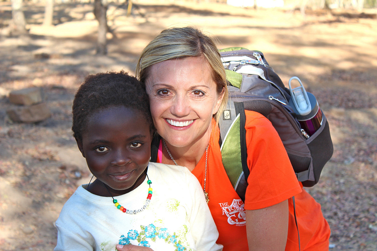 Cecilia with Precious, a girl from Zambia, who was adopted.