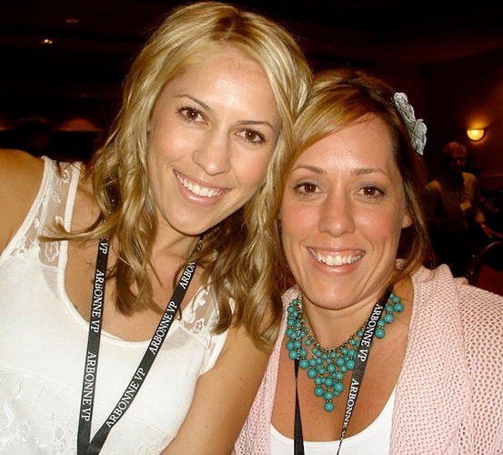 Audra and her sister, ERVP Kenna McGrath, at an Arbonne conference.
