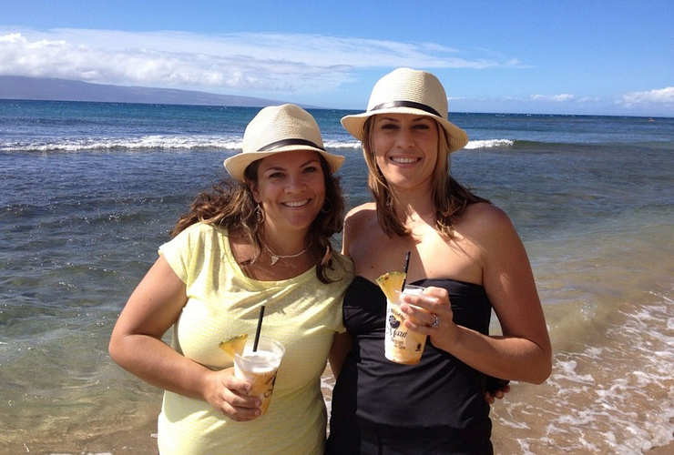 Audra and ENVP Casey Simmons on their sixth trip to Hawaii.